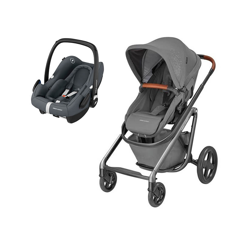 Duo Lila Sparkling grey e Rock da Bebeconfort Essential Graphite