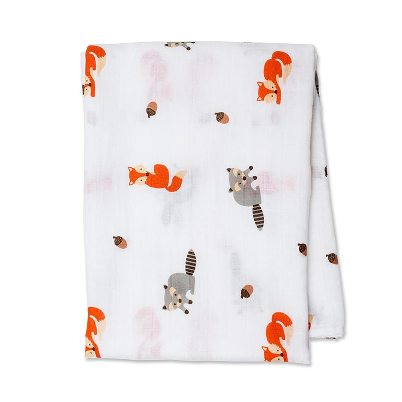 Swaddle de algodão Forest friends